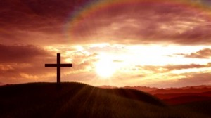stock-footage-christian-crosses-on-a-hill-at-sunset